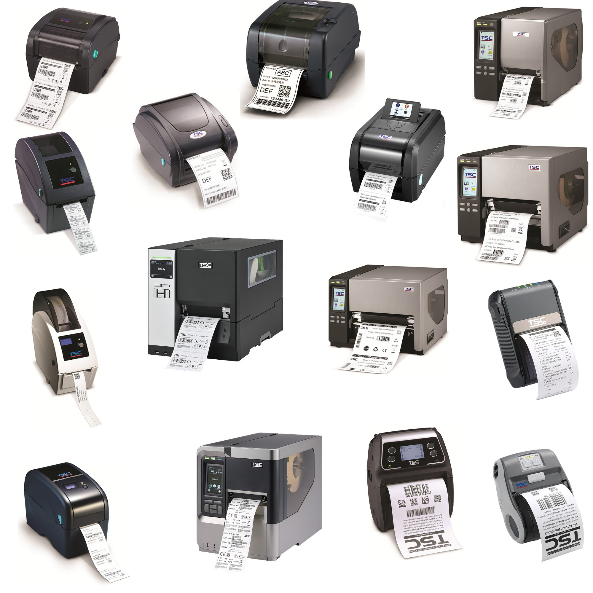 TSC and Printronix Barcode Label Printers