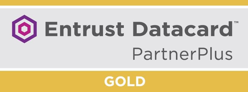 Logo Entrust Datacard Gold Partner Plus